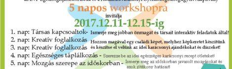 Workshop- Egészséges és aktív időskor